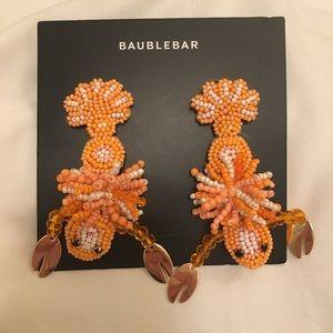 Beaded baublebar lobster earrings